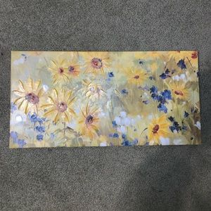Other - Yellow flower wall art